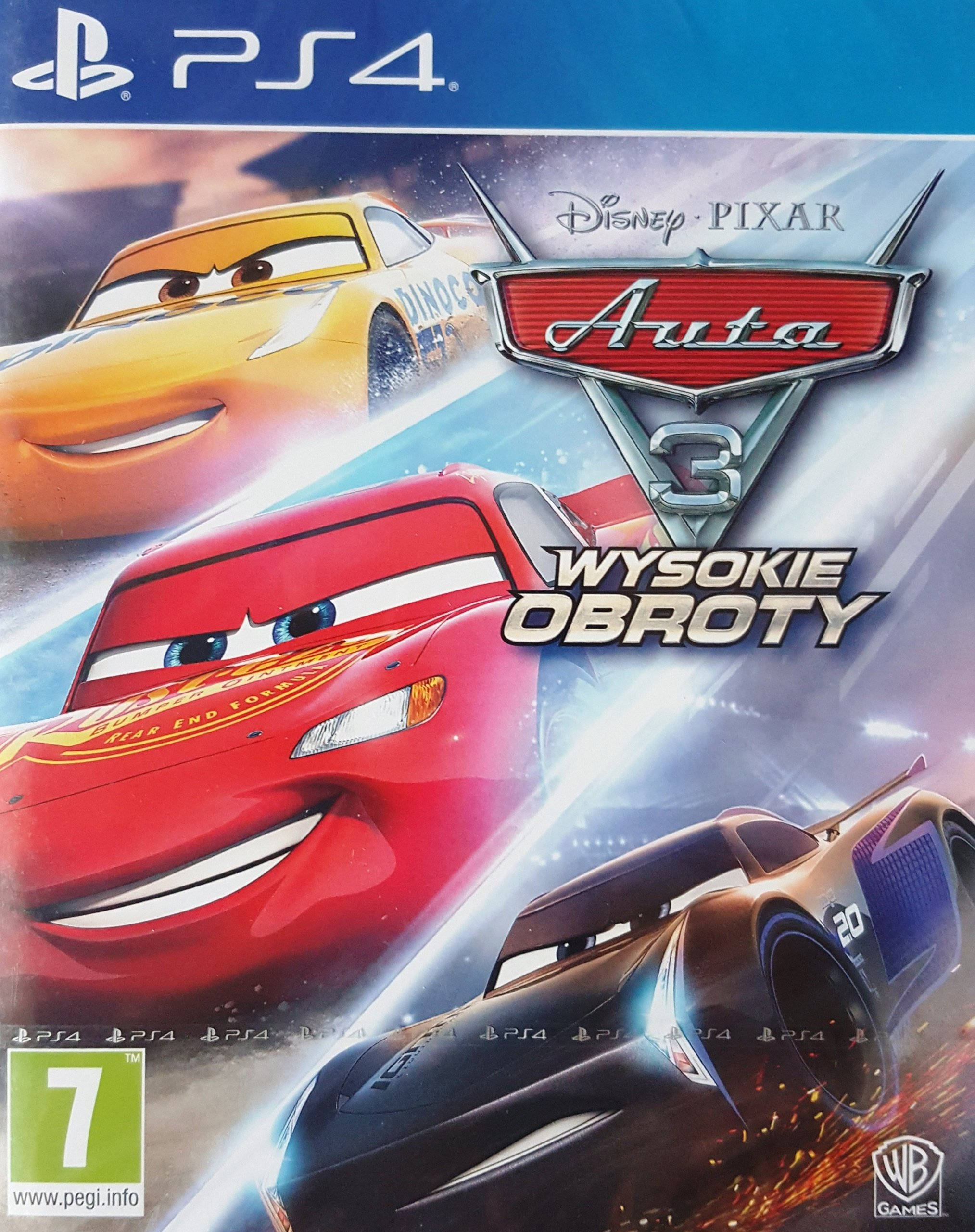 Диск  PlayStation 4 Cars 3 Driven to Win